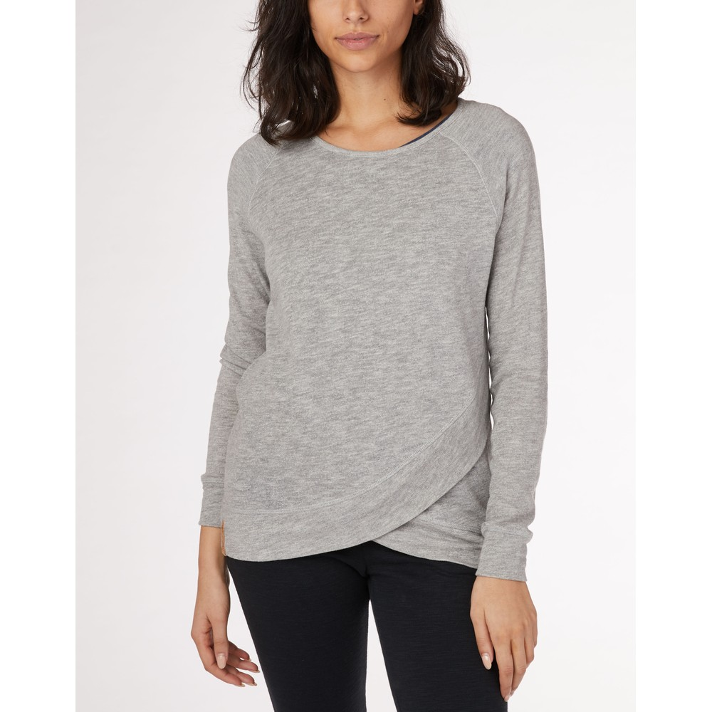 tentree Acre LS Womens Hi Rise Grey Marled