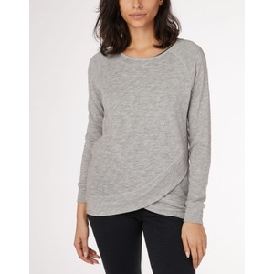 tentree Acre LS Womens in Hi Rise Grey Marled