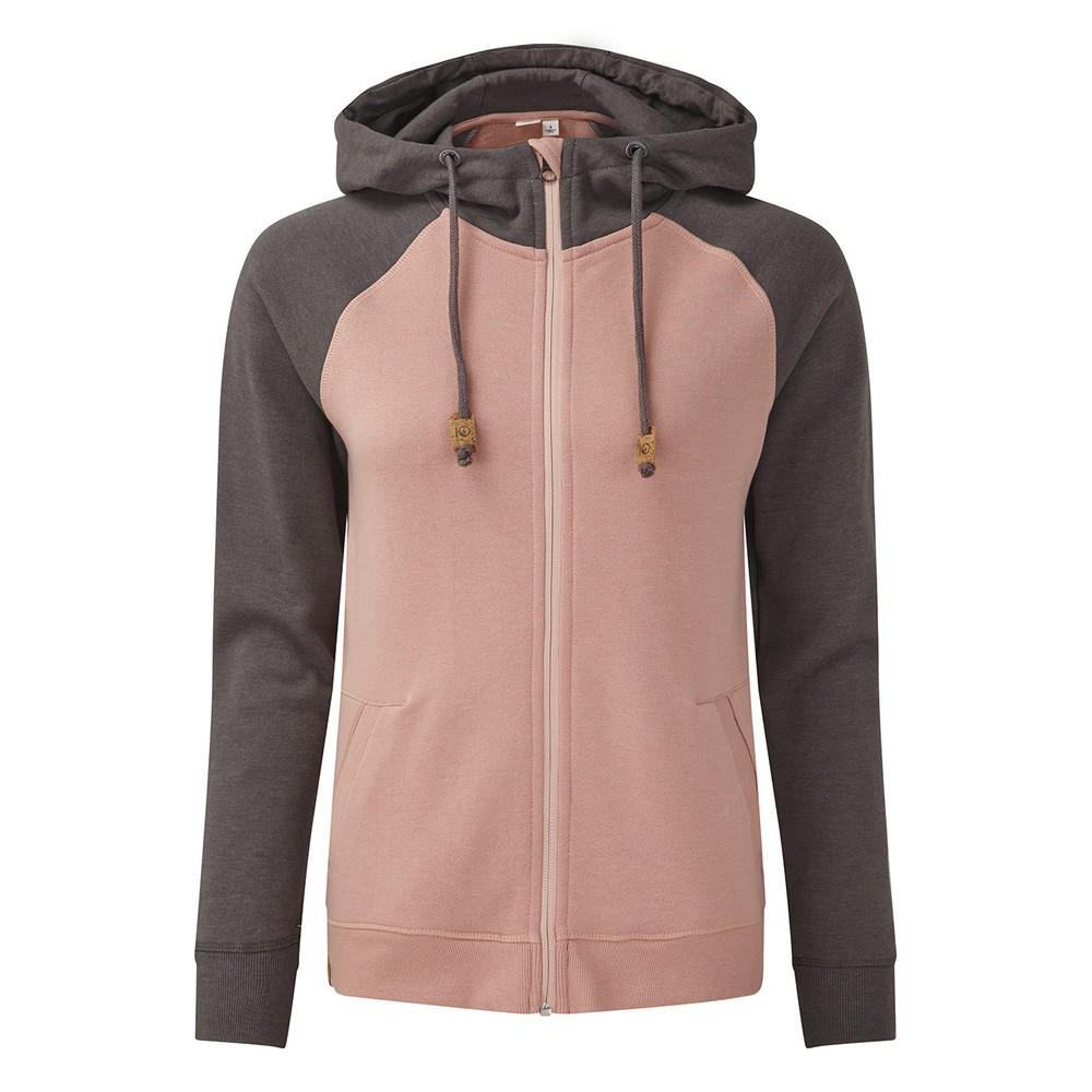 tentree Burney Zip Hoodie Womens Quartz Pink/Boulder Grey