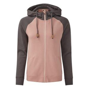 tentree Burney Zip Hoodie Womens in Quartz Pink/Boulder Grey