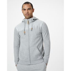 tentree Juniper Zip Hoodie Mens in Hi Rise Grey Heather