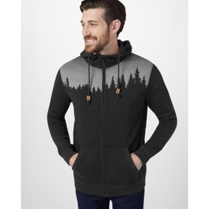 tentree Juniper Zip Hoodie Mens in Meteorite Black Heather