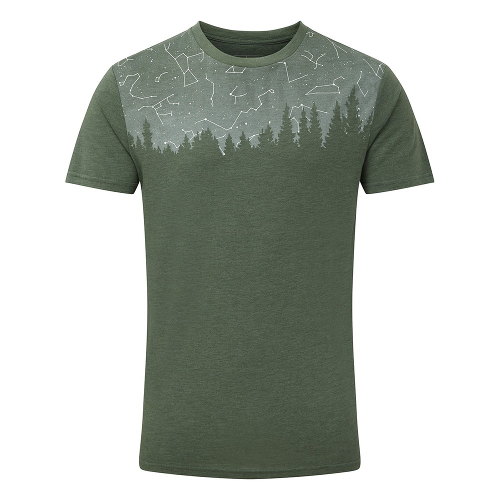 tentree Constellation Classic T-Shirt Mens Forest Green Heather
