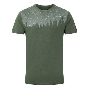 tentree Constellation Classic T-Shirt Mens in Forest Green Heather