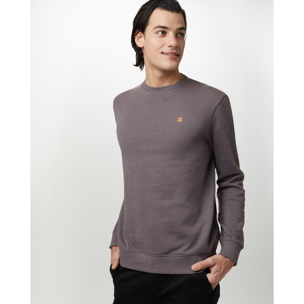 tentree Classic Crew Mens Boulder Grey Heather