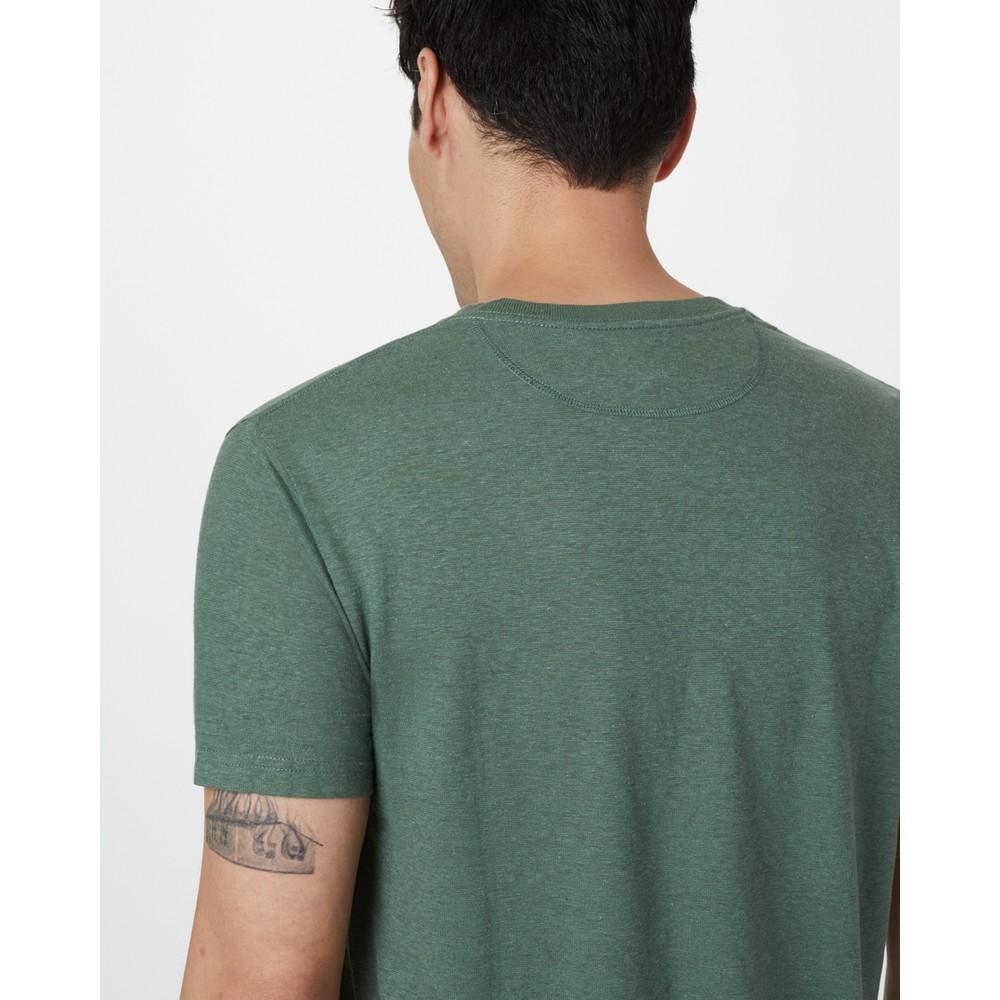tentree Hemp V-Neck T-Shirt Mens Forest Green
