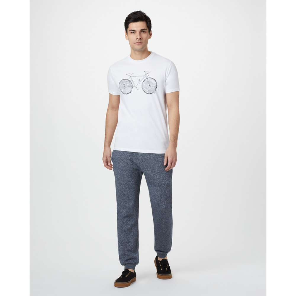 tentree Elm Cotton Classic T-Shirt Mens Optic White