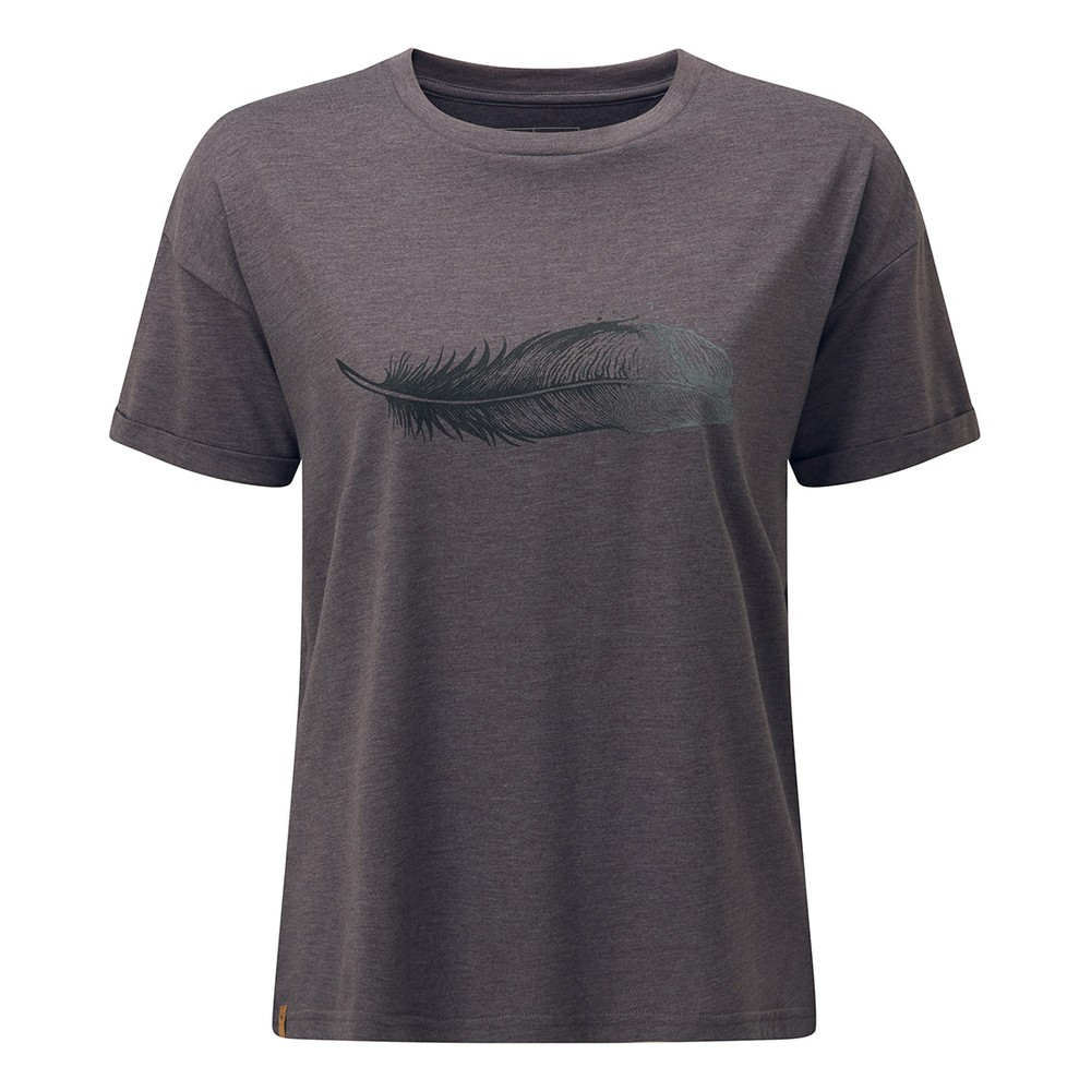tentree Featherwave Relaxed T-Shirt Womens Boulder Grey Heather