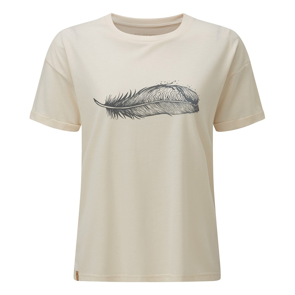 tentree Featherwave Relaxed T-Shirt Womens Elm White Heather