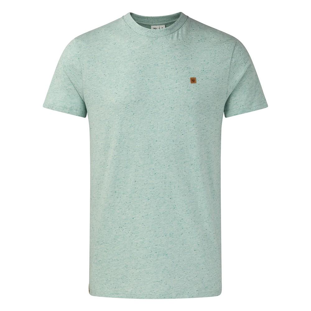 tentree Classic Cotton T-Shirt Mens Morning Blue Snow Fleck