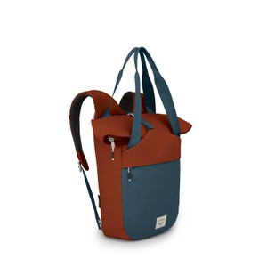 Osprey Arcane Tote in Umber Orange/Stargazer Blue