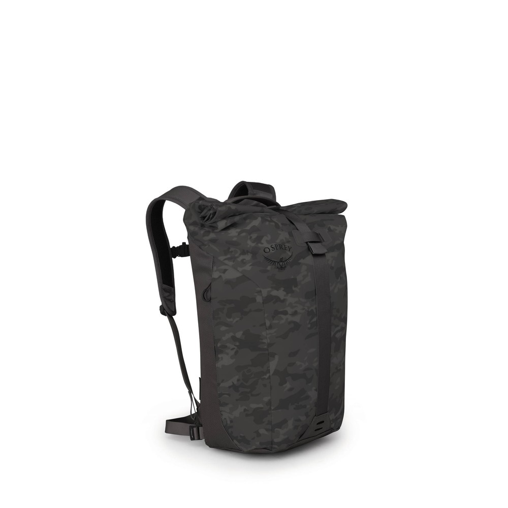 Osprey Transporter Roll Camo Black