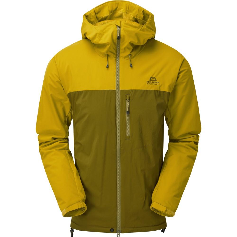 Mountain Equipment Kinesis Jacket Mens Fir Green/Acid
