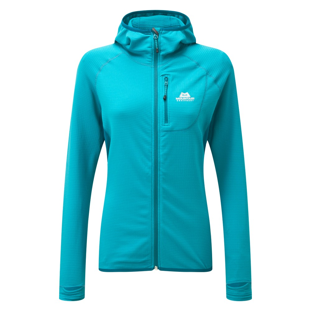 Mountain Equipment Eclipse Hooded Jacket Womens Pool Blue/Tasman