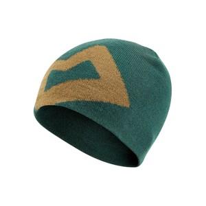 Branded Knitted Beanie Mens Conifer/Fir Green