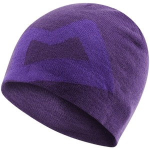 Mountain Equipment Brand Knitted Beanie Womens in Tyrian/Han Purple