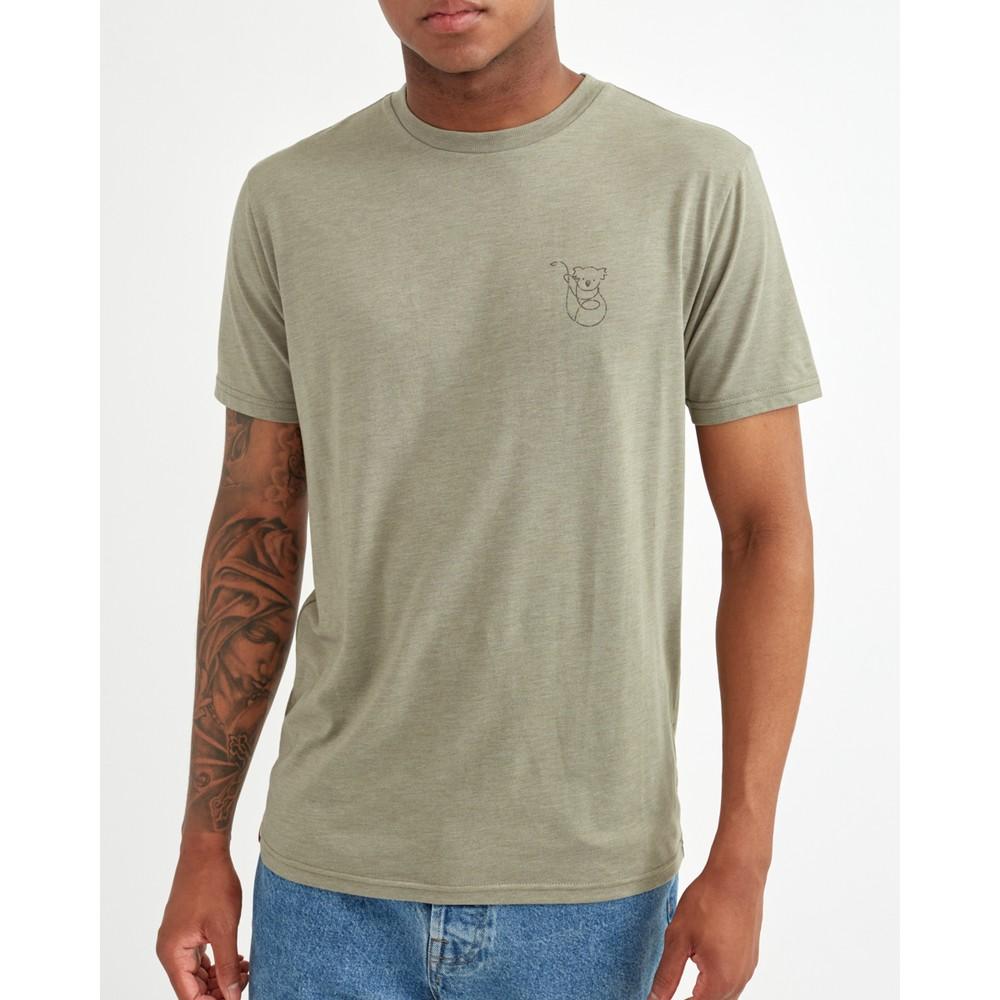 tentree Australia Animal T-Shirt Mens Vetiver Green