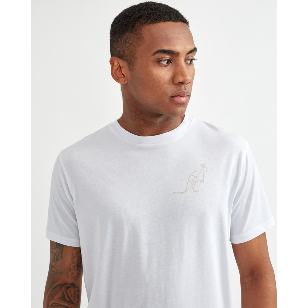tentree Australia Animal T-Shirt Mens White