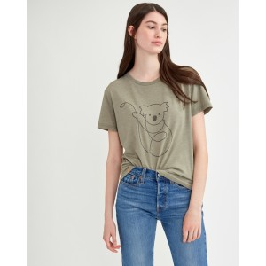 tentree Australia Animal T-Shirt Womens in Vetiver Green