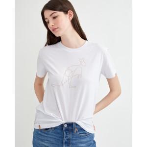 tentree Australia Animal T-Shirt Womens in White