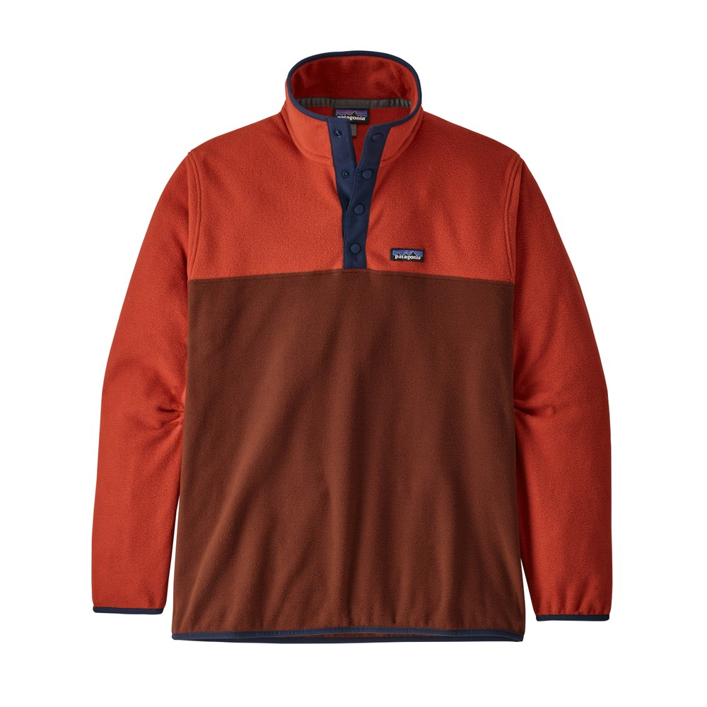 Patagonia Micro D Snap-T Pullover Mens Barn Red