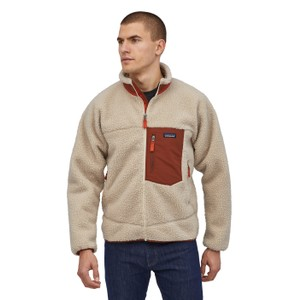 Patagonia Classic Retro-X Jacket Mens in Natural w/Barn Red
