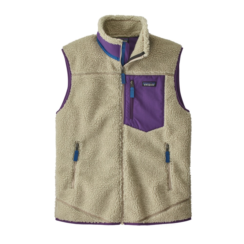 Patagonia Classic Retro-X Vest Men's Pelican w/Purple
