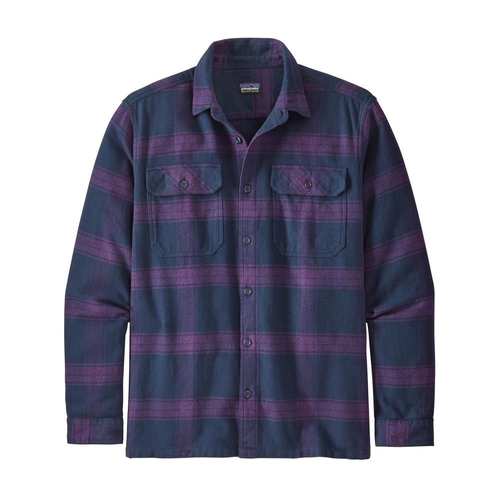 Patagonia LS Fjord Flannel Shirt Mens Burlwood:Purple