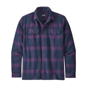 Patagonia LS Fjord Flannel Shirt Mens in Burlwood:Purple