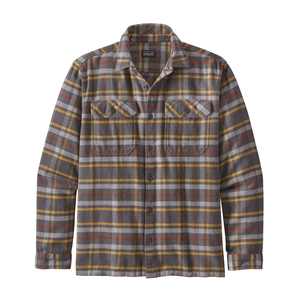 Patagonia LS Fjord Flannel Shirt Mens Independence:Forge Grey