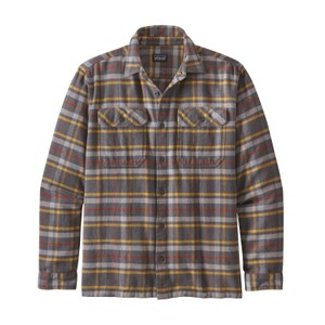 Patagonia LS Fjord Flannel Shirt Mens in Independence:Forge Grey