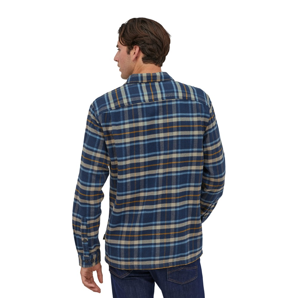 Patagonia LS Fjord Flannel Shirt Mens Independence:New Navy