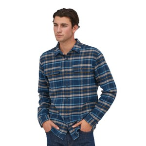 Patagonia LS Fjord Flannel Shirt Mens in Independence:New Navy