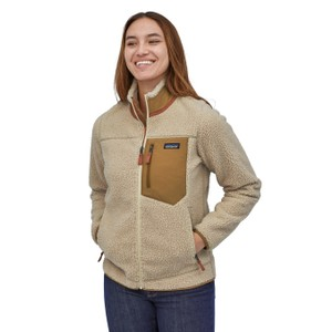 Patagonia Classic Retro-X Jacket Womens in Natural w/Nest Brown