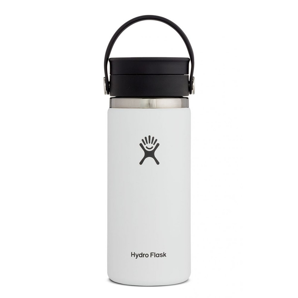 Hydro Flask 16oz Wide Mouth w/FlexSip Lid White