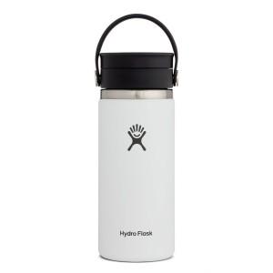 Hydro Flask 16oz Wide Mouth w/FlexSip Lid in White