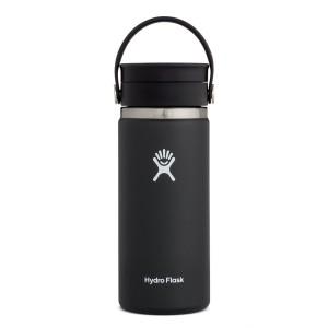Hydro Flask 16oz Wide Mouth w/FlexSip Lid in Black