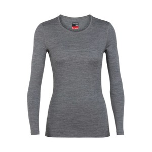 Icebreaker Tech 260 LS Crewe Womens in Gritstone HTHR