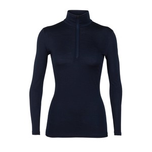 Icebreaker Oasis 200 LS Half Zip Womens in Midnight Navy