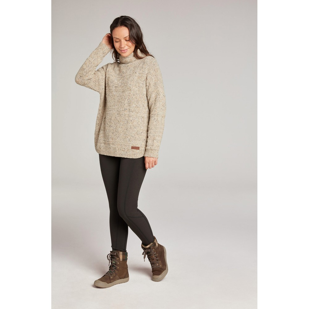 Sherpa Yuden Pullover Sweater Womens Chai Tea