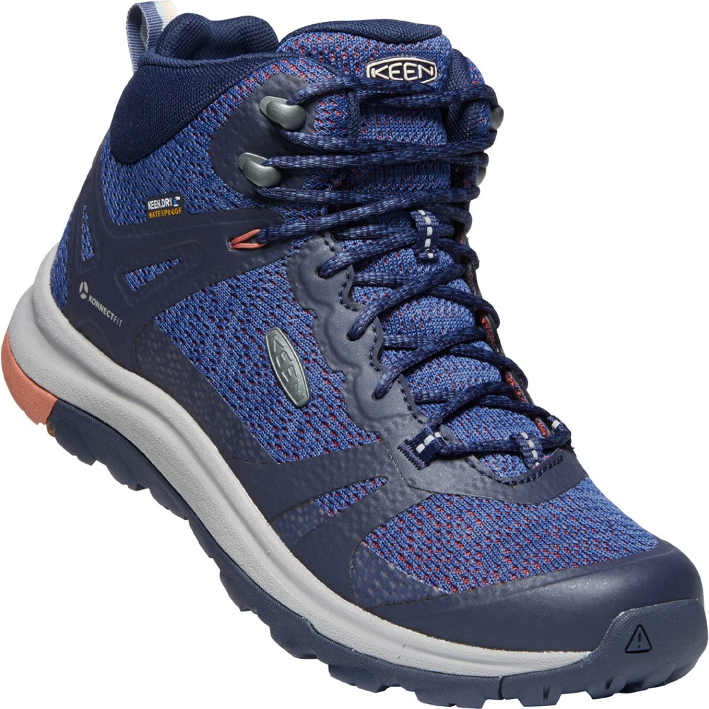 Keen Terradora II Mid WP Womens Blue Nights/Redwood