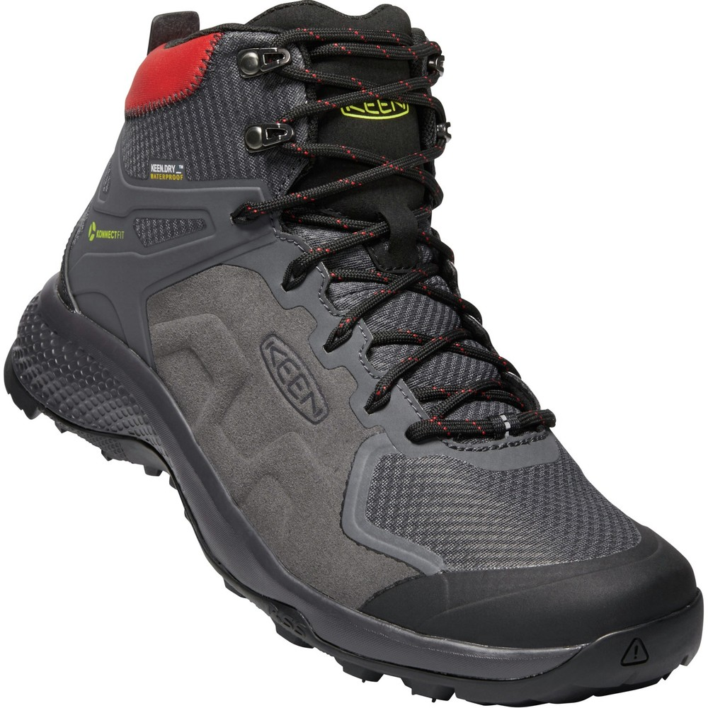 Keen Explore Mid WP Mens Magnet/Fiery Red
