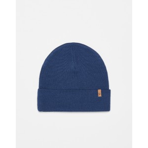 tentree Wool Kurt Beanie in Dark Ocean Blue