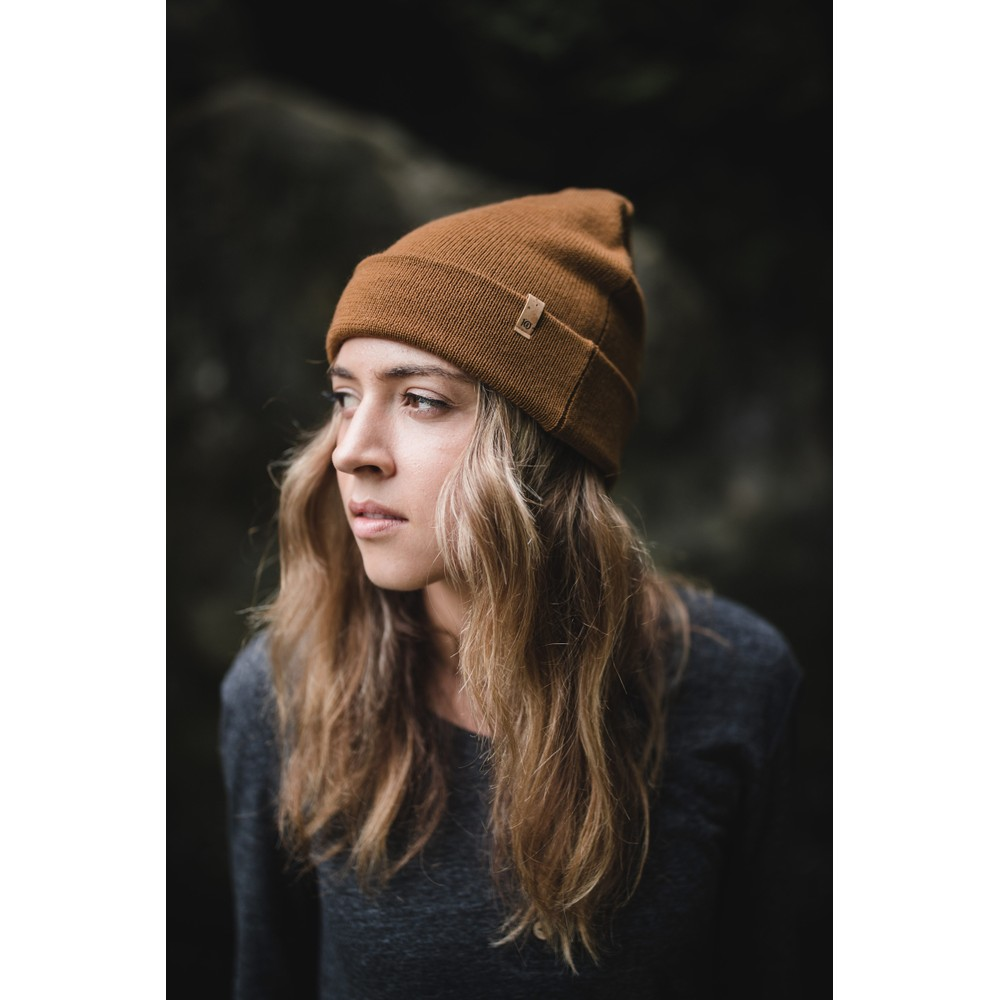 tentree Wool Kurt Beanie Rubber Brown