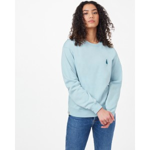 tentree Golden Spruce Boyfriend Crew Womens in Pine Mist Blue Heather