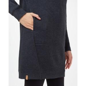 Fleece Crew Dress Womens Meteorite Black Heather