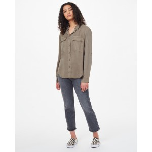 Tencel Everyday Blouse Womens Olive Night Green