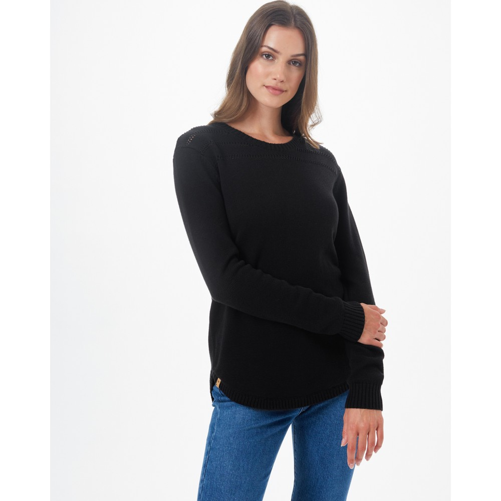 tentree Forever After Sweater Womens Meteorite Black