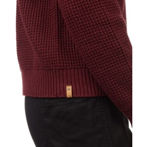 Highline Cotton Crew Sweater Womens Red Mahogany