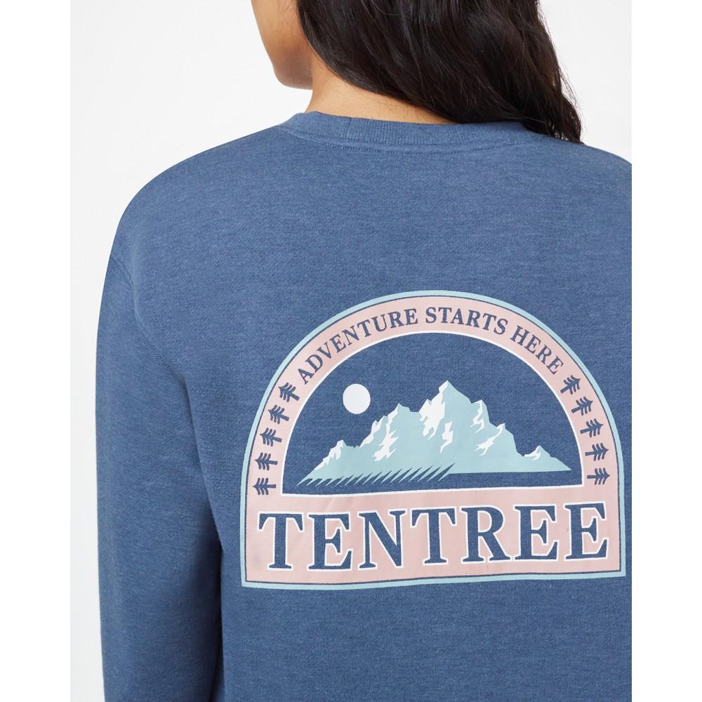 tentree Adventure Boyfriend Crew Womens Spruce Blue Heather
